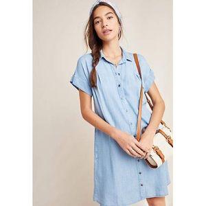 Anthropologie Cloth & Stone Janine Chambray Dress